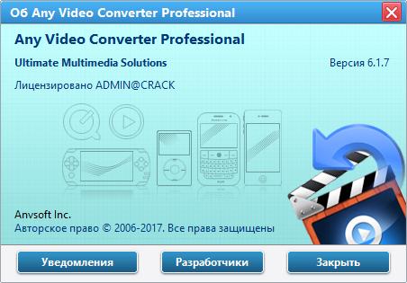 Any Video Converter скачать с ключом