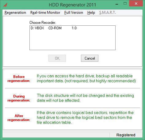 HDD Regenerator ключ