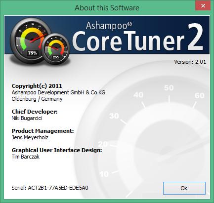 Ashampoo Core Tuner скачать с ключом