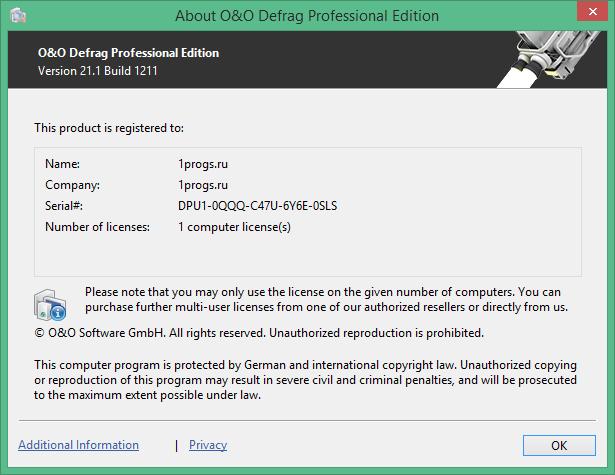 O&O Defrag скачать с ключом