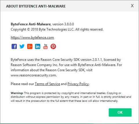 ByteFence Anti-Malware код активации