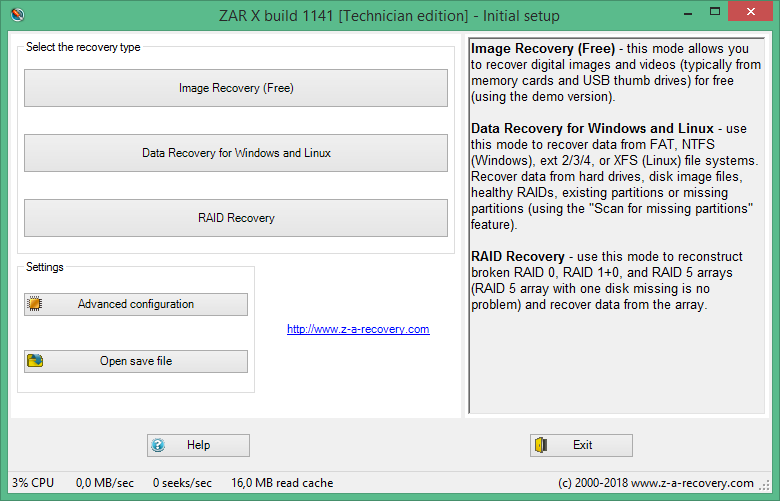 Zero Assumption Recovery 10.0.1141