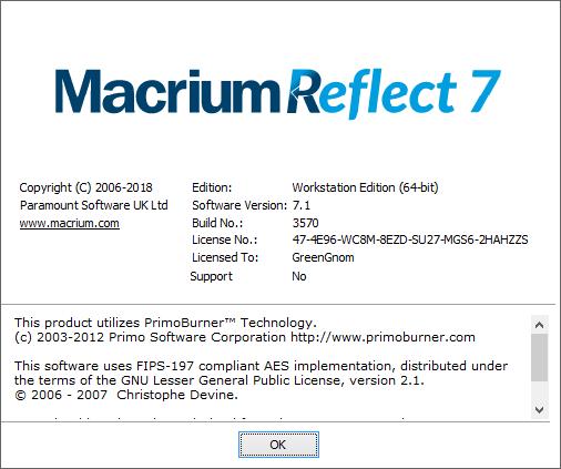 macrium reflect лицензионный ключ