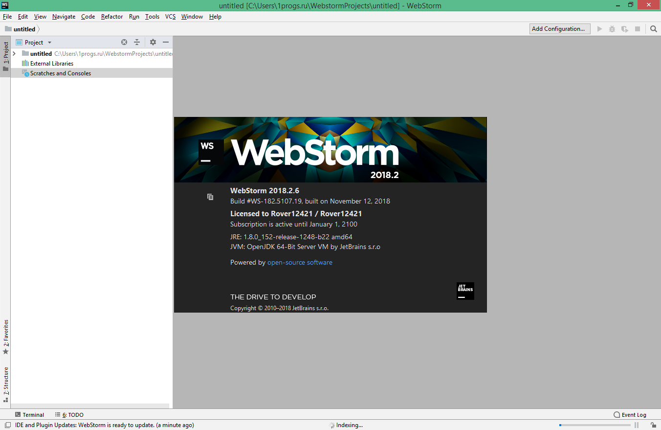 webstorm activation code 2018