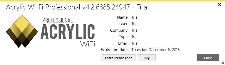 acrylic wifi professional