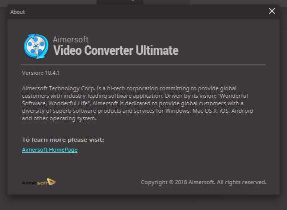 aimersoft video converter ultimate код активации