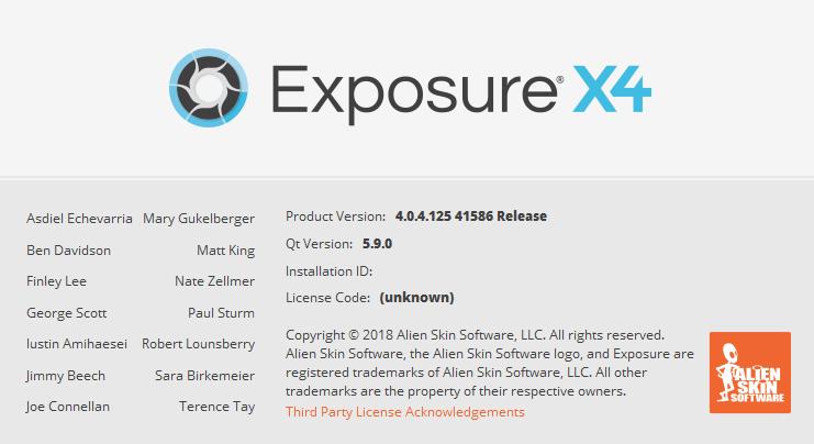 alien skin exposure x4