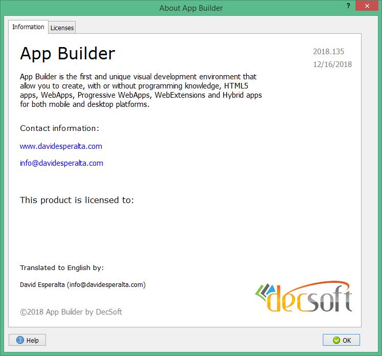 app builder 2018