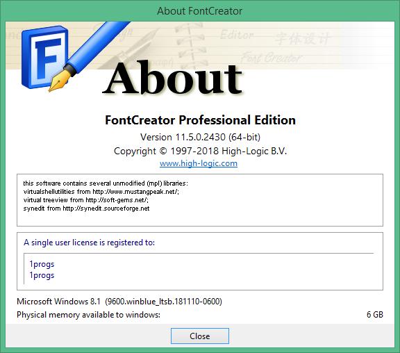 fontcreator код активации