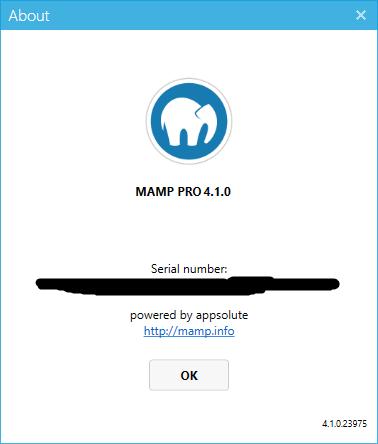 MAMP PRO serial