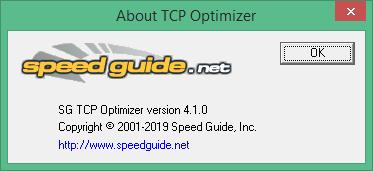 SG TCP Optimizer 4 1 0 для Windows 7-10 скачать бесплатно