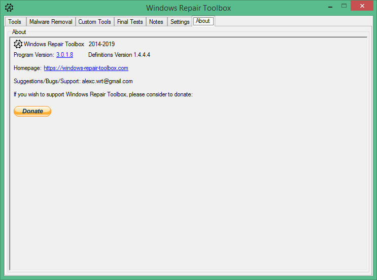 Windows Repair Toolbox скачать