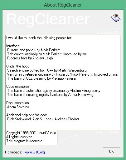 regcleaner для windows 7