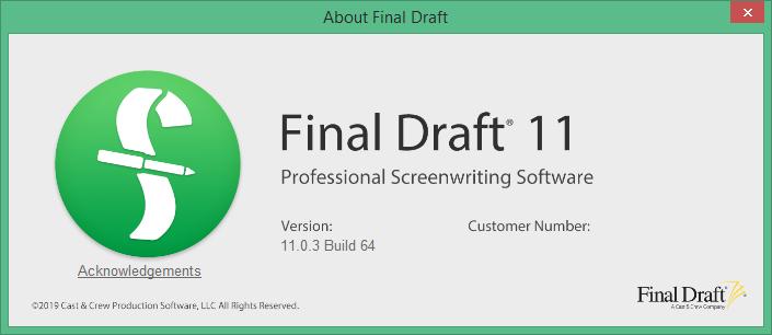 final draft скачать