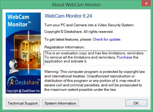 webcam monitor скачать
