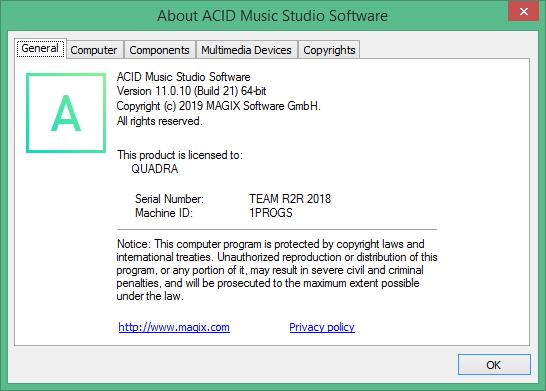 ACID Music Studio скачать торрент