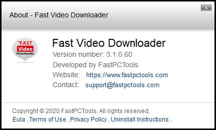 Fast Video Downloader код активации