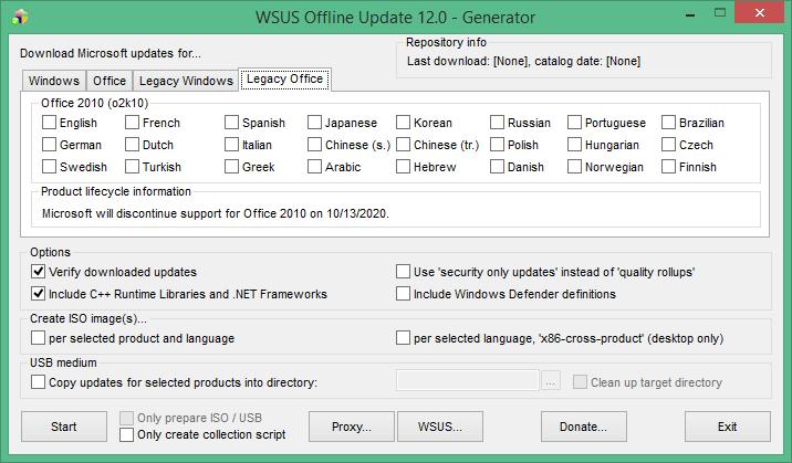 wsus offline update windows 7