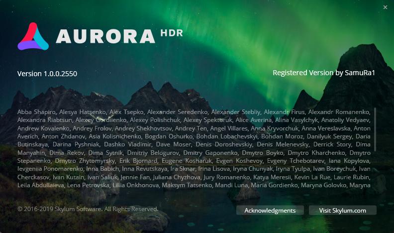 Aurora HDR скачать торрент