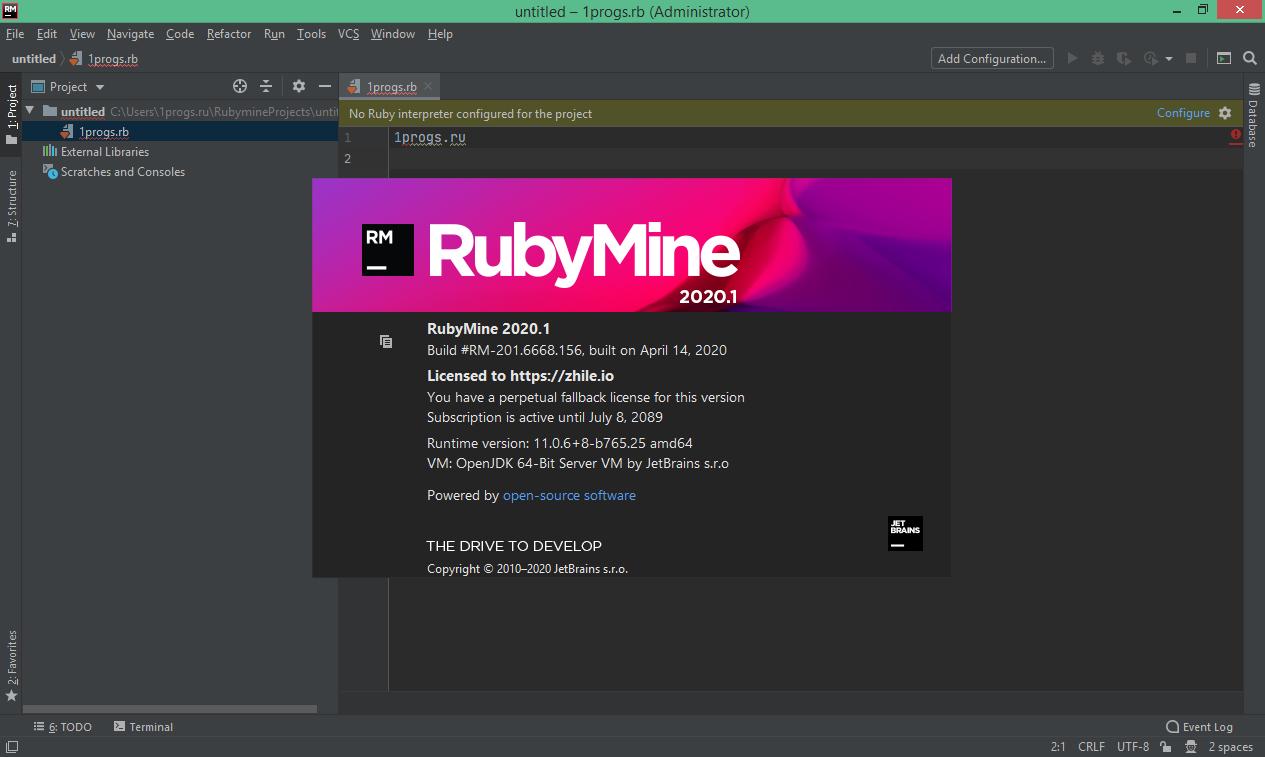 JetBrains RubyMine скачать