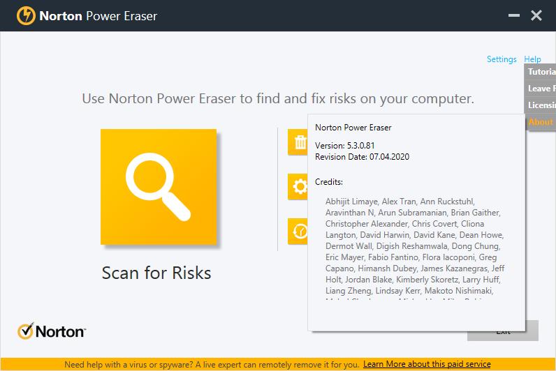 Norton Power Eraser скачать