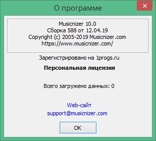 Musicnizer код активации