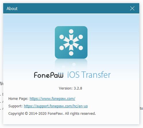 FonePaw iOS Transfer скачать