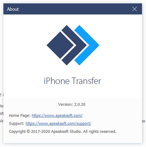 Apeaksoft iPhone Transfer скачать торрент