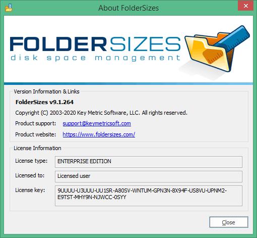 FolderSizes скачать
