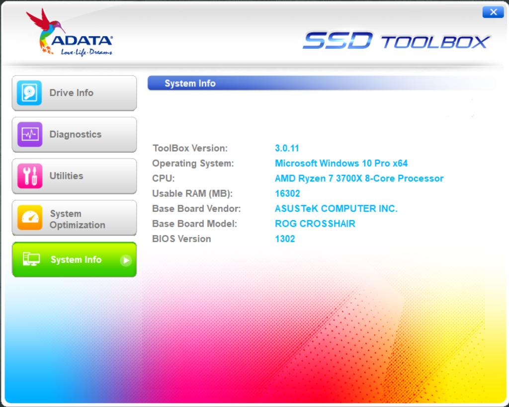 ADATA SSD ToolBox