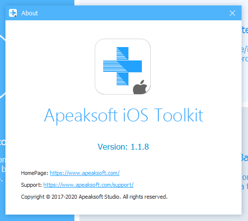 Apeaksoft iOS Toolkit код активации