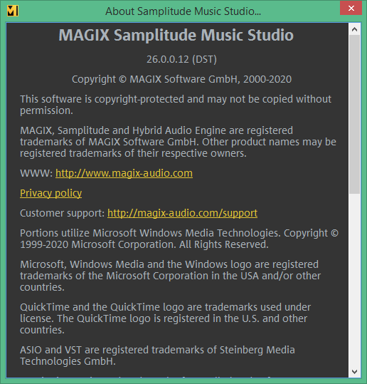 MAGIX Samplitude Music Studio скачать торрент