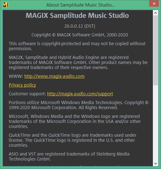 MAGIX Samplitude Music Studio скачать торрент