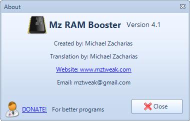 Mz Ram Booster скачать