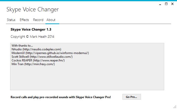 Skype Voice Changer скачать