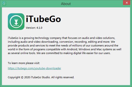 iTubeGo YouTube Downloader key
