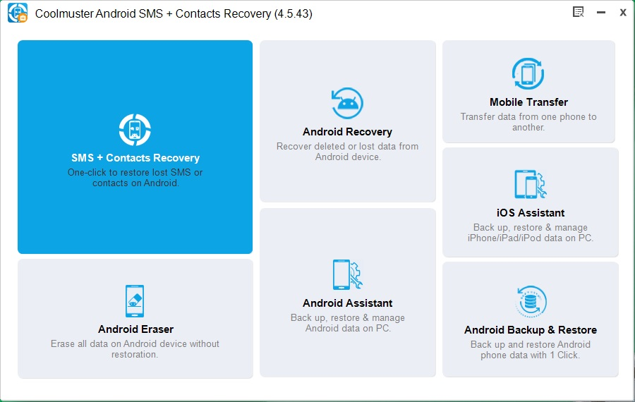Android SMS + Contacts Recovery