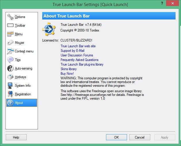 True Launch Bar скачать для Windows 10
