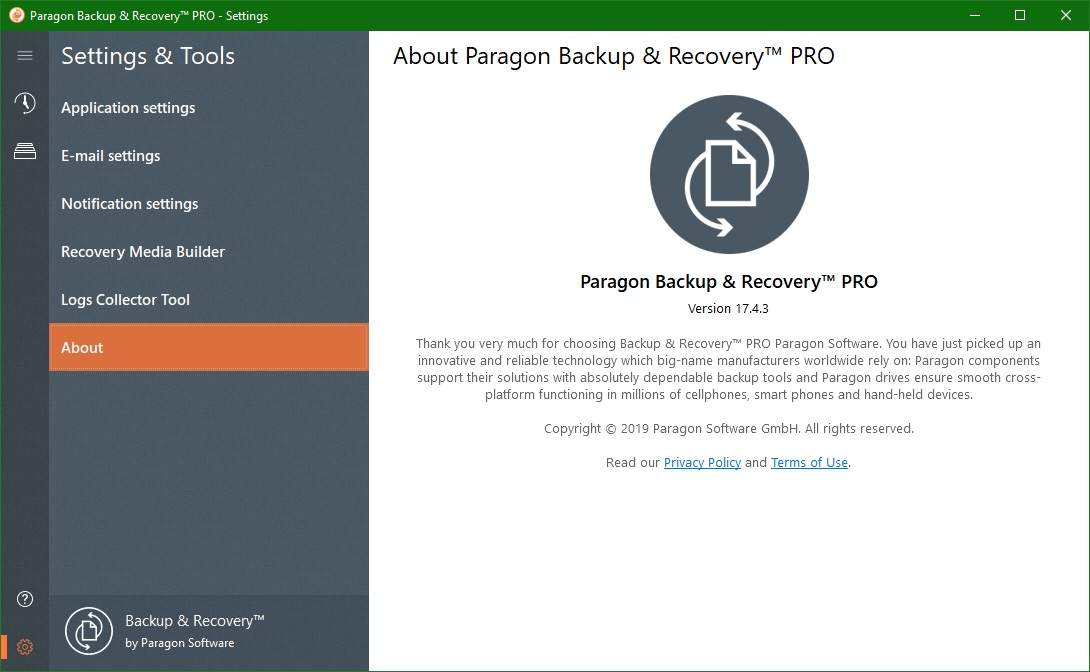 Paragon Backup & Recovery скачать