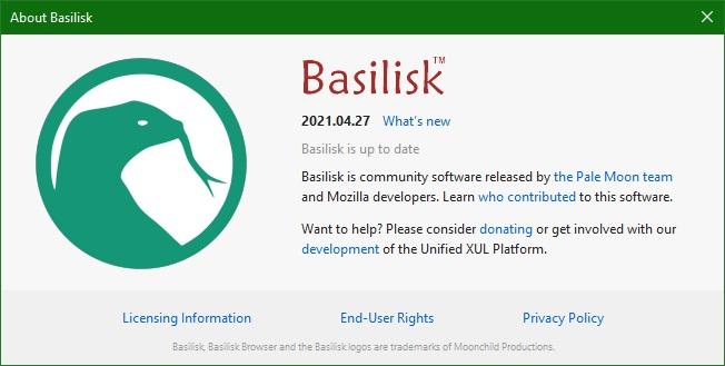 Basilisk браузер скачать