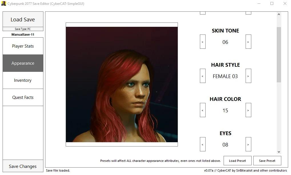 Cyberpunk 2077 Save Editor