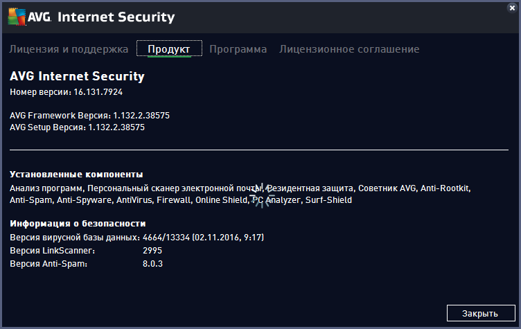 AVG Internet Security 2017 ключ