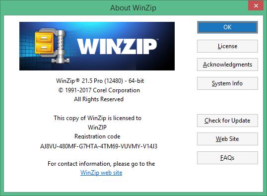 WinZip скачать с ключом