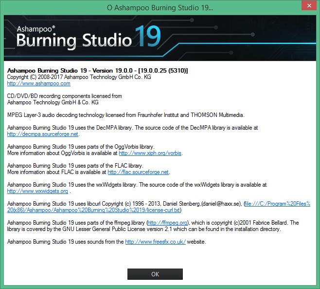 Ashampoo Burning Studio скачать с ключом