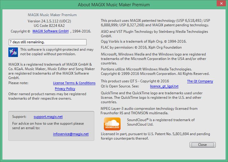MAGIX Music Maker ключ
