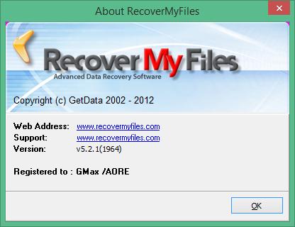 Recover My Files скачать с ключом