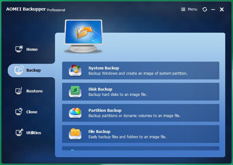 AOMEI Backupper ключ