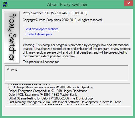 Кряк Proxy Switcher