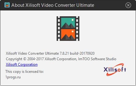 Xilisoft Video Converter Ultimate скачать с ключом