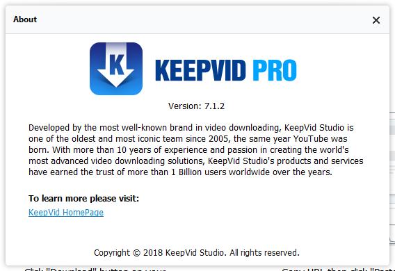 KeepVID Pro скачать с ключом